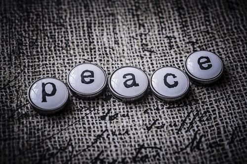 Vivez en paix les uns avec les autres